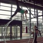 Renkailua Kupittaan urheiluhallilla