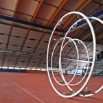 Rhönradrengas Kupittaan urheiluhallilla